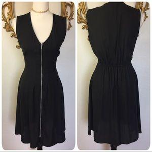 H&M Black Zippered Dress Size 8
